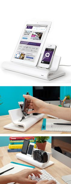 Converge docking station // for all your tech gadgets #product_design #industrial_design