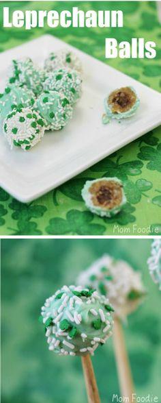 St Patricks Day Food - Leprechaun Balls: A St. Patrick's Day dessert for grown ups.