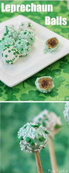 St Patricks Day Food - Leprechaun Balls: A St. Patrick's Day dessert for grown ups.
