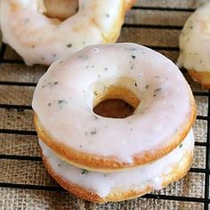 Mojito Dougnuts- Doughnuts with rum dipped in a mint and lime glaze.