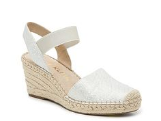 Anne Klein-Ashlea Espadrille Wedge Sandal Make your ensemble shine when wearing the Ashlea wedge sandal from Anne Klein. This silhouette is fashioned with a sparkling glitter upper, espadrille heel, and iFlex footbed for cushioned steps! Slingback Sandal, Wedge Sandals, Wedge Shoes, Espadrille Wedge, Women's Shoes, Pretty Shoes, Beautiful Shoes, Espadrilles, Red High Heel Shoes