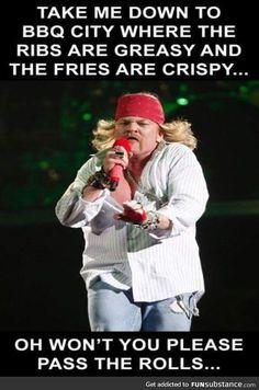 hilarious bbq memes - gallery ebaum's world. Papa Roach, Breaking Benjamin, Sara Bareilles, Dad Jokes, Funny Jokes, Hilarious, It's Funny, Garth Brooks, Music Humor