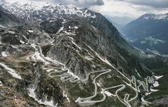 . . . the twisty road! (photo from rally site)  - Peking to Paris Rally 2013   Day 31    Davos - Gstaad