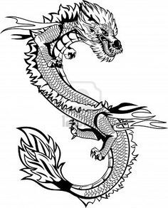 The vector image of  head of the Asian dragon Stock Photo