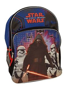 Star Wars Boys Kylo and Stormtroopers Backpack BlueBlack *** BEST VALUE BUY on Amazon