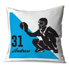 Create the ultimate room for your player or fan with our baseball room decor! Hit a home run in design with custom pillowcases, picture frames, or decals! Baseball Room Decor, Softball Catcher, Custom Pillow Cases, Baseball Mom, Picture Frames, Silhouette, Throw Pillows, Sports, Gifts