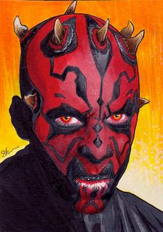 Darth Maul Darth Maul, Deadpool, Star Wars, Superhero, Stars, Artwork, Addiction, Sketch, Fictional Characters