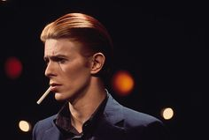 1976: In Los Angeles, California, around the time Bowie adopted the persona of the Thin White Duke