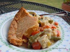 Wheat Belly Recipe from Gourmet Girl: Chicken Pot Pie with Almond Crust