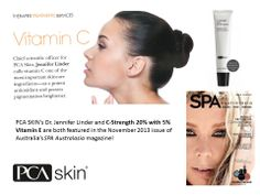 PCA SKIN's Dr. Jennifer Linder and C-Strength 20% with 5% Vitamin E are both featured in the November 2013 issue of Australia's SPA Australasia magazine!