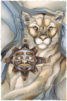 Bergsma Gallery Press::Paintings::Native American::Land Animal::Masks for the Sun - Prints