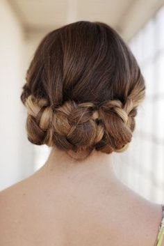 Braids and Knots-Wedding Hairstyle for Medium Hair