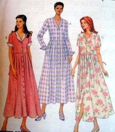 Hard to find-- Vintage McCALLS SEWING PATTERN - 8648 MISSES 10,12,14 Loose Dress - Button down front