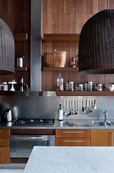 木とステンレスと籐 #キッチン