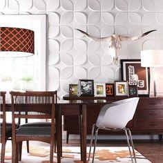 Wohnzimmer Mit Attraktiven Mustern An Der Wand