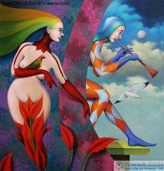 Figurative art by Jose De La Barra: 'Romantica' fine art print