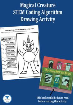 Magical Creatures STEM Coding Algorithm Drawing Activity - JDaniel4s Mom Drawing Activities, Science Activities For Kids, Steam Activities, Cool Science Experiments, Stem Science, Motor Activities, Educational Activities, Steam Learning, Early Learning