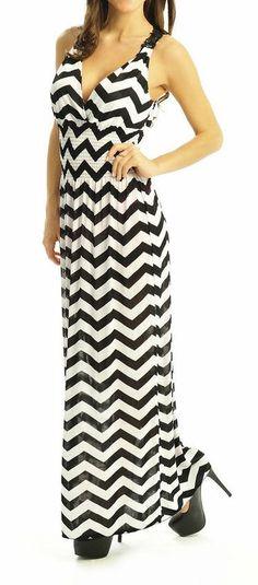 Chevron Tank Maxi Dress ♥