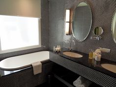 bath next to basin