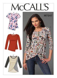 M7247 Designed for medium-weight moderate stretch knits.: Jerseys, Cotton Knit, Interlock.