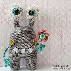 Crochet pattern - Egon, friendly monster - by VendulkaM, digital crochet pattern, amigurumi, DIY, pdf