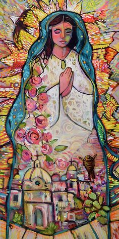 Our Lady of Guadalupe Catholic Wall Art Print, Blessed Mother, apparition to Juan Diego Catholic Art, Religious Art, Virgin Mary Art, Verge, Mexican Folk Art, Blessed Mother, Christian Art, Our Lady, Fine Art America