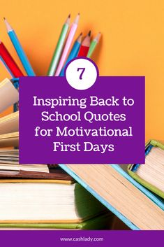 Back to School Quotes: 7 Motivating Quotes for the First Days Back Motivational Quotes For Teachers, Inspirational Quotes For Kids, Teacher Quotes, Positive Quotes, Motivating Quotes, Back To School Quotes, Welcome Back To School, Going Back To School, One Day Quotes
