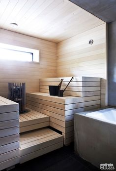 People have been enjoying the benefits of saunas for centuries. Spending just a short while relaxing in a sauna can help you destress, invigorate your skin Sauna Steam Room, Sauna Room, Bathroom Spa, Small Bathroom, Bathroom Ideas, Shiplap Bathroom, Bathroom Organization, Bathroom Renovations, Bathroom Furniture