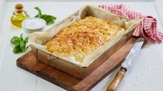 Oppskrift på focaccia Macaroni And Cheese, Tapas, Rolls, Dairy, Grilling, Baking, Dinner, Ethnic Recipes, Desserts