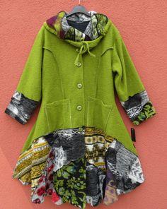 Sarah Santos TRAUMHAFT Mantel Coat Manteau Manteo XL 48 50 Lagenlook 90% Wolle | eBay