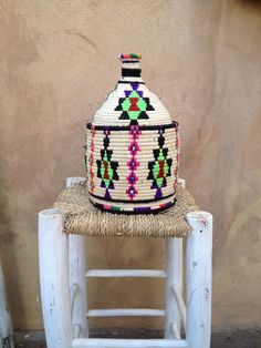 Handwoven vintage Moroccan berber basket $66 postage $35 or combine with rug