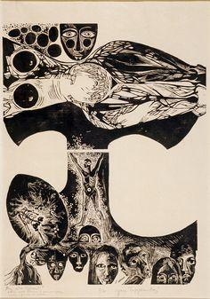 Yara Tupynambá (Montes Claros, 2 de abril de 1932) é uma artista plástica brasileira. Gravura da Série Gênesis anos 60 Wood Engraving, Printmaking, Interstellar, Photo And Video, Painters, Artwork, Anos 60, Etchings, Artists