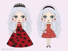 new doll_Hasbro4 New Dolls, Illustration Girl, Cute Stickers, Blythe Dolls, Disney Characters, Fictional Characters, Aurora Sleeping Beauty, Clip Art, Disney Princess