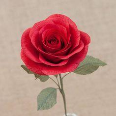 #paper #flower #crepepaper #rose #red #handmade #paperflower #paperbouqet
