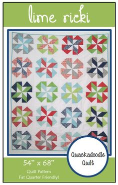 Easy PDF Lime Ricki Quilt Pattern by Quackadoodle Quilt
