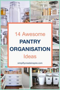 Get inspired with these simple pantry organisation ideas to get your own pantry organised and orderly so you can use your time better elsewhere! These pantry inspiration ideas and hacks for keeping your kitchen pantry tidy will have you saying goodbye to mess and hello to time saving tidy! #pantryorganisation #pantry #kitchenorganisation #pantrydeclutter Corner Pantry Organization, Kitchen Organization Pantry, Kitchen Pantry, Organisation Ideas, Kitchen Utensils, Baking Cupboard, Small Cupboard, Small Pantry, Pantry Inspiration