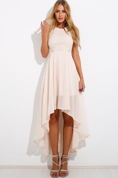 Always And Forever Maxi Dress Beige