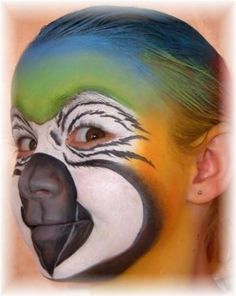 Cool Parrot Face Paint I gotta try this when I get my new wolfe bros paints!