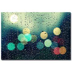 "Trademark Art ""Rainy City"" by Beata Czyzowska Young Photographic Print on Canvas & Reviews   Wayfair"