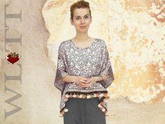 Sweatshirts - Tunika **BEDINA** Cape - ein Designerstück von WLTT-Fashiondesign bei DaWanda