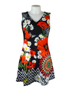 Holiday or cruise wear, ideal for summer evenings or city adventuring- 101 Idees Black Floral Dress