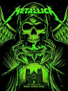Metallica Concert, Metallica Art, Pays Francophone, Metal Music Bands, Skull Wallpaper, Trippy Wallpaper, Rock Band Posters, Pochette Album, Concert Posters