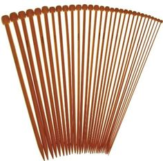 Premium Collection 9 Inch Single Point Bamboo Knitting Needles, 15 Set Collection (US#0 2mm - US#15 10mm)