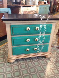General finishes milk paint, linen, patina green, dark chocolate, Van dyke glaze