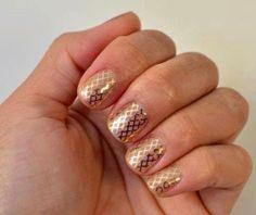 Gold Fishnet Jamberry Nails www.yesnails.jamberrynails.net