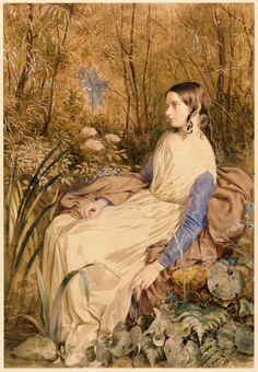 Annie Callwell (d.1904), 1840s // Frederick William Burton, late
