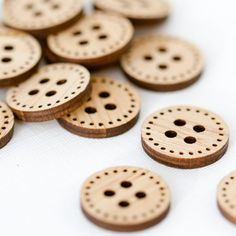Items similar to Stitchable Wood Buttons - Set of 6 on Etsy Fun Crafts For Kids, Diy For Kids, Arts And Crafts, Diy Crafts, Laser Cutter Projects, Tungsten Wedding Bands, Valentine Treats, Sell On Etsy, Bamboo