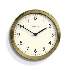 Discover the Newgate Clocks The Spy Clock - Brushed Gold Steel at Amara