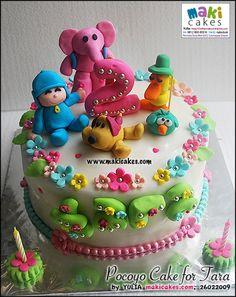 girly pocoyo cake