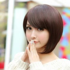 Shafa Shabreena Shafbreena On Pinterest - Gaya rambut pendek sebahu ala korea